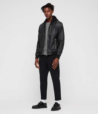Mens All Saints Leather Jacket - ShopStyle UK 4232d2c61