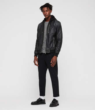 853db141e1b7 Mens All Saints Leather Jacket - ShopStyle UK