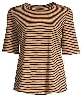 Eileen Fisher Women's Organic Cotton Roundneck Stripe Tee