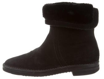 Jimmy Choo Jimmy Choo Shearling Suede Ankle Boots