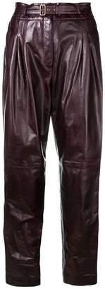 Alberta Ferretti belted high waisted trousers