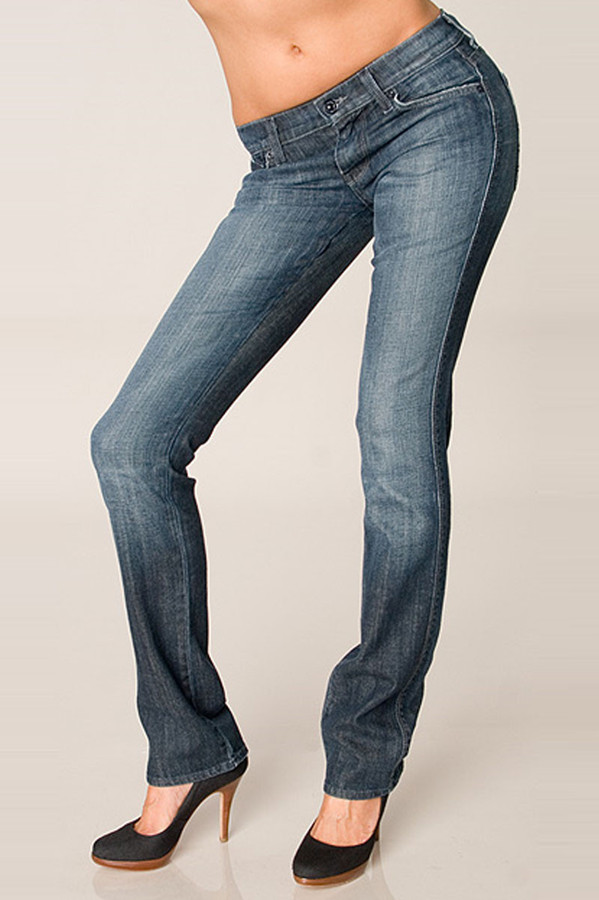 7 for All Mankind Edie in Light Weight Caribe