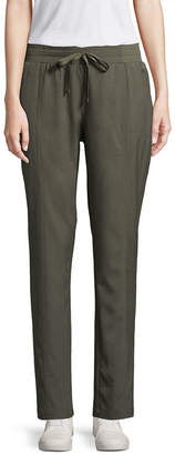 ST. JOHN'S BAY SJB ACTIVE Active Straight Fit Woven Pull-On Pants