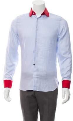 Gucci Pinstripe Dress Shirt w/ Tags blue Pinstripe Dress Shirt w/ Tags