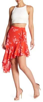 Wild Honey Asymmetrical Ruffle Skirt