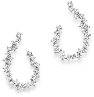 Bloomingdale's Diamond Front-to-Back Earrings in 14K White Gold, 0.50 ct. t.w. - 100% Exclusive