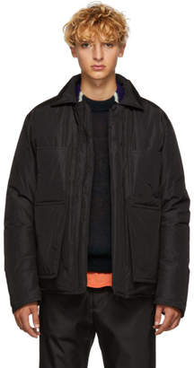Craig Green Black Crinkle Down Worker Jacket
