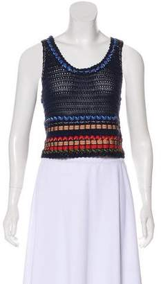 Alice + Olivia Sleeveless Crocheted Top w/ Tags