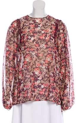 Giamba Silk Long Sleeve Blouse