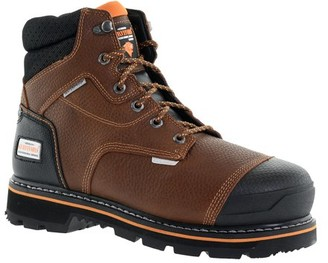 Herman Survivors Professional Series Herman Survivor Professional Series Men's Shoveler 6 Inch Work Boot, ASTM Rated Steel Toe, Slip Resistant, Brown and Black