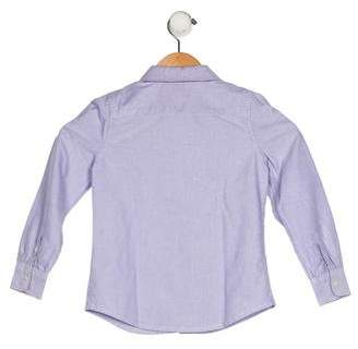Ralph Lauren Girls' Collar Button-Up Top