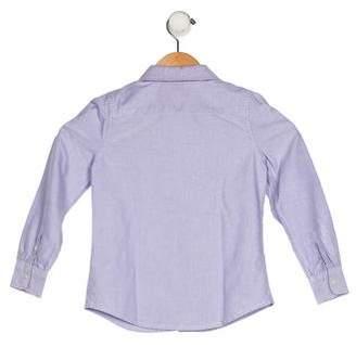 Ralph Lauren Girls' Collar Button-Up Top