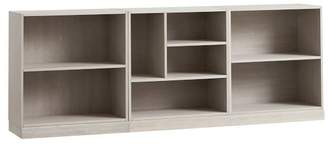 Pottery Barn Teen Stack Me Up Low Bookcase Set, Brushed Fog