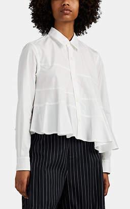 Comme des Garcons Women's Cotton Asymmetric Swing Blouse - White