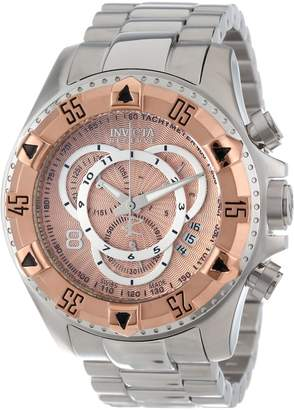 Invicta Men's 11000 Excursion Reserve Chronograph Rose Gold Tone Dial Stainless Steel Watch