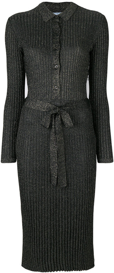 Prada lurex knitted dress