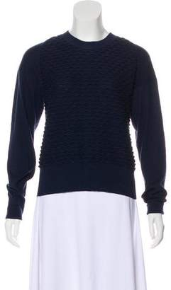 3.1 Phillip Lim Embroidered Long Sleeve Sweater