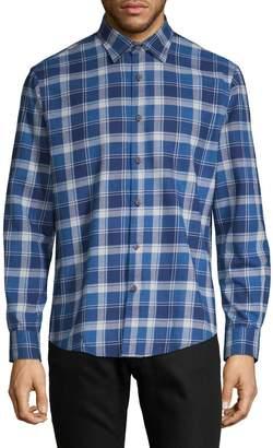 Black Brown 1826 Long-Sleeve plaid Button-Down Shirt