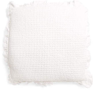 Made In Portugal Waffle Ruffle Euro Pillow