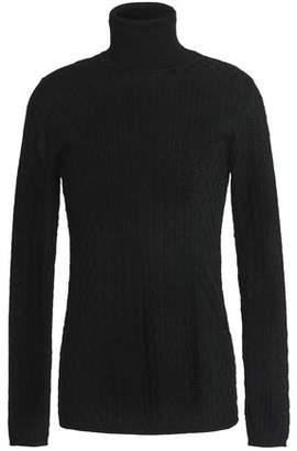 M Missoni Crochet-knit Wool-blend Turtleneck Sweater