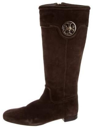 Tory Burch Knee-High Logo Boots
