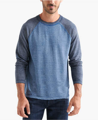 Lucky Brand Men Microterry Burnout Crew