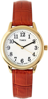 Timex TW2P68800 Gold-Tone & Brown Easy Reader Watch