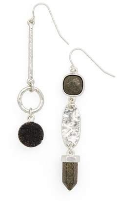 Treasure & Bond Semiprecious Mismatched Linear Drop Earrings