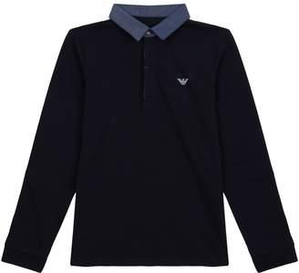 Emporio Armani Woven Collar Polo Shirt