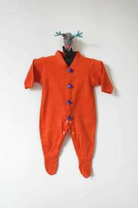 Scarecrow Kids Orange Footed Onesie