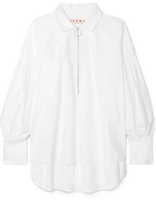 Marni Oversized Cotton-poplin Shirt - White