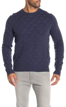 LOFT 604 Honeycomb Crew Neck Wool Sweater