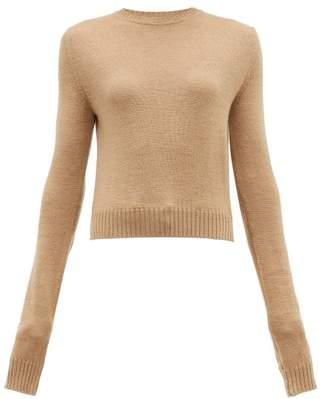Jil Sander Round Neck Wool Sweater - Womens - Camel