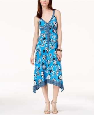 INC International Concepts I.n.c. Handkerchief-Hem Cross-Back Dress, Created for Macy's