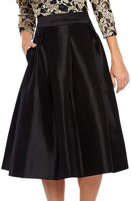 Ronni Nicole Pleated Taffeta Skirt-Petite