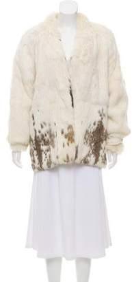 Shall Collar Fur Jacket