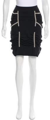 Marithé + François Girbaud Gathered Knee-Length Skirt