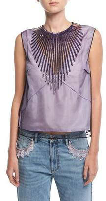 Marc Jacobs Beaded Tulle Crop Top