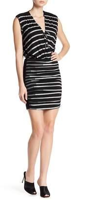 Nicole Miller Striped Knit Dress