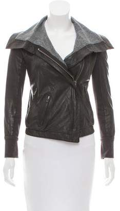 A.L.C. Leather Long Sleeve Jacket