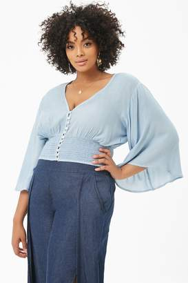 Forever 21 Plus Size Boho Me Angel-Sleeve Top