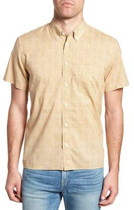Billy Reid Leo Standard Fit Short Sleeve Sport Shirt