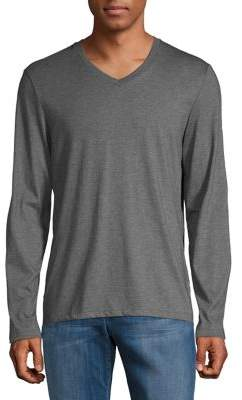 Calvin Klein V-Neck Long-Sleeve Cotton Tee