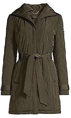 Donna Karan Women's Quilted Tech Coat