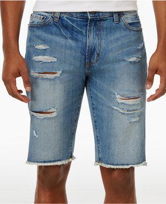 American Rag Men's Ripped Denim Shorts $45 thestylecure.com