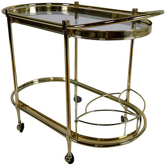 One Kings Lane Vintage Italian Regency-style Oval Tea Cart - Castle Antiques & Design