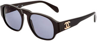 Chanel Black Wide Acrylic Sunglasses