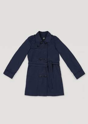 "Armani Junior Technical Fabric Trench Coat With Armani"" Inserts"