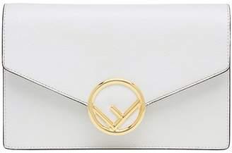 Fendi envelope mini leather shoulder bag