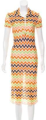Missoni Short Sleeve V-Neck Dress